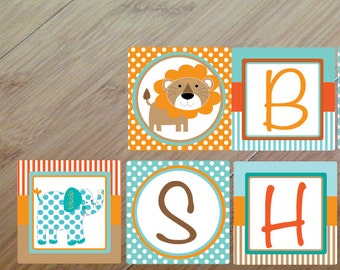 Safari Road, Baby Shower Banner or Birthday Banner, Printed and assembled