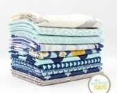 "Ocean Mist - Fat Quarter Bundle - 10 - 18""x21"" Cuts - by Southern Fabric"