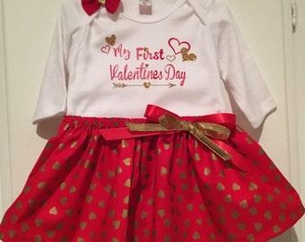 Valentine, First Valentines, Valentine outfit, Valentines baby, Valentine dress, Valentine tutu, Valentines skirt, newborn Valentine