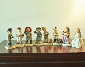 """Lefton """"I Want To Be"""" Series Collectible Figurines - Vintage Lefton Minitures Eight Piece Set- 1950's Lefton Doll Figurines"""