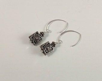 Bali Silver Earrings, Sterling Silver Earrings, One Of A Kind, Sterling Dangle Earrings, Ready To Ship, Shop Handmade