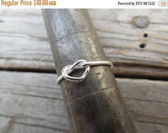 ON SALE Love knot ring handmade in sterling silver 925