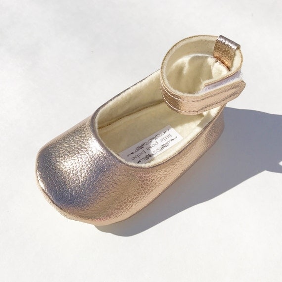Metallic Rose Gold Toddler Girl Shoes Baby Girl Shoes Metallic