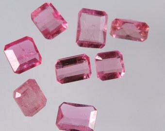 5.45 cts hot pink tourmaline faceted mixed octagon cut lot afghanistan