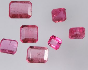 5 cts hot pink tourmaline faceted mixed octagon cut lot afghanistan