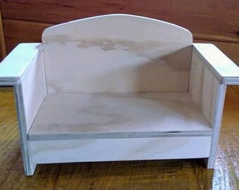 Handmade Love Seat for 18 inch Doll