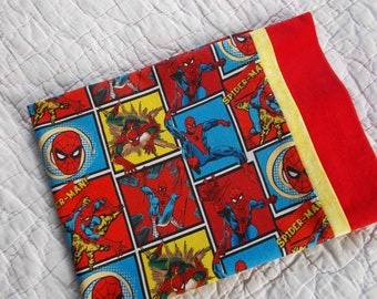 Spiderman Childrens or Travel Pillow Case