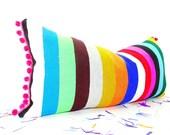 Bohemian decor, Mexican Pillow covers 14x28, funky Mexico cushion, Tribal Aztec Pillowcase sham multicolor Pillows, Serape Pillow
