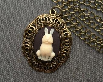 Rabbit Necklace - Rabbit Jewelry - Bunny Necklace - Cute Jewelry - Bunny Rabbit - Dainty Necklace - Woodland Jewelry - Easter Jewelry