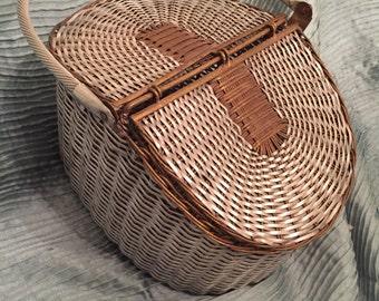 SILVER and BRASS BASKET, Woven Metal Basket, Metal Picnic Basket, 2 Lids, Boho, Regency/Gift Basket/Wedding/Modern Handmade at Modern Logic