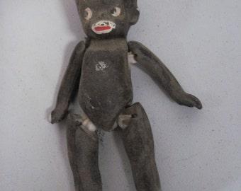 Antique vintage porcelain Black Americana doll