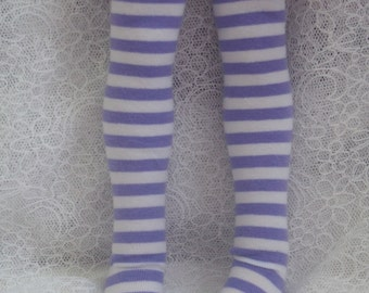 Mini Dollfie Dream MDD Super Dollfie MSD Purple Stripe Socks
