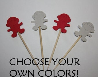 24 mini food picks - Astronaut - Choose your Colors!