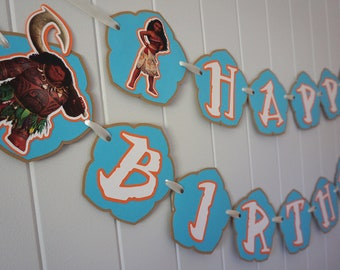 Moana Birthday Banner - MADE TO ORDER
