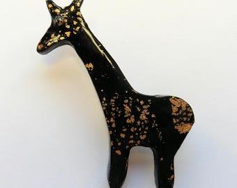 Giraffe Brooch Giraffe Pin African Animal Brooch African Animal Pin African Jewellery Giraffe Jewelry Giraffe Jewellery African Jewelry