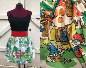 Three sizes!  Smurfs bell skirt, small, medium, large, xl
