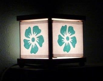 Flower Night Light Decor blue green Nightlight