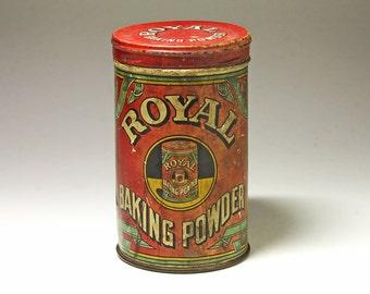 Vintage Royal Banking PowderAdvertising Tin - 1938