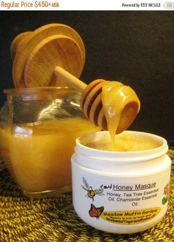 ONSALE Blemish Care, Organic Raw Honey Facial Mask, Face Masque, Wound care, Troubled skin, Blackheads