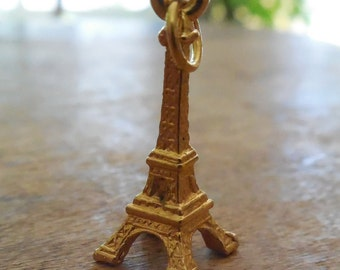 Vintage Eiffel Tower Pendant Or Charm - French Tower in France - New Coupon Code BUY3GETONEFREE