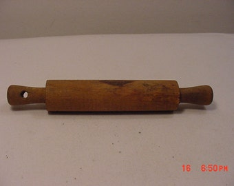Vintage Miniature Wood Rolling Pin  17 - 360