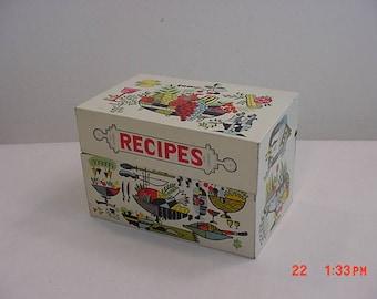 Vintage Metal Recipe Box  17 - 702