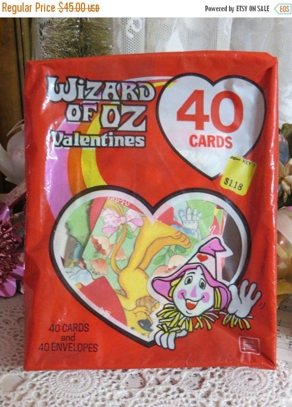 ON SALE Old Stock-Unused-Valentine Day Cards from the 1981-Original Package-Wizard of Oz