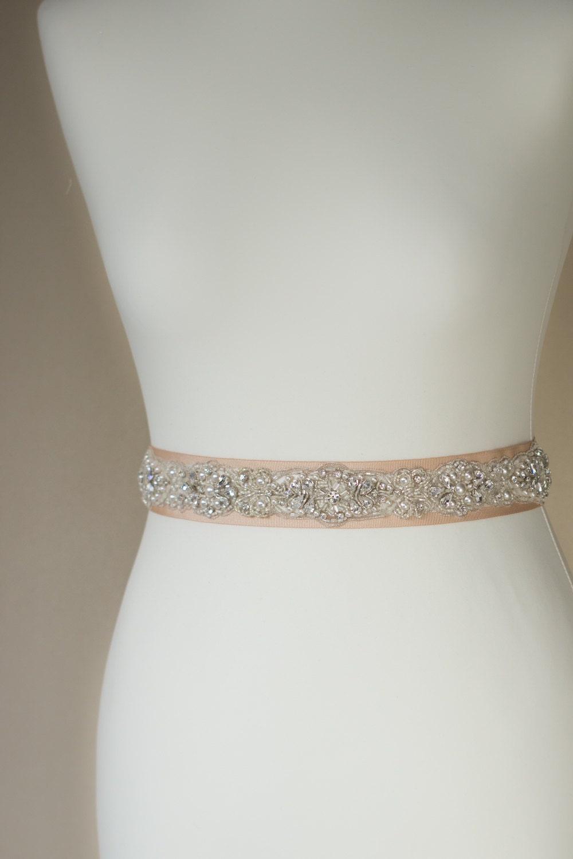 chagne bridal belt bridal sash wedding dress sash