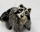 Raccoon - Ceramic Figurine - Forrest Animal - Pottery Animal - Clay Raccoon - Raccoon Figurine