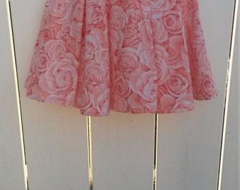 SALE - Size 5 Roses Roses Roses Girls Ruffled Twirl Skirt READY to SHIP