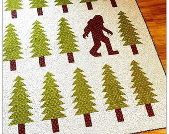 Elizabeth Hartman Legendary  Quilt Pattern Bigfoot  Sasquatch Cryptid