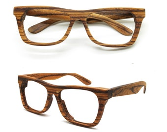 Can be customize very large size XXL  Walker2011 Handmade big Zebra Wood Sunglasses Glasses from TAKEMOTO