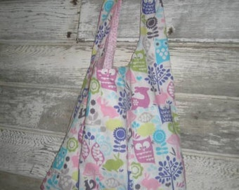 Spring Owl  Reversible Tote Bag
