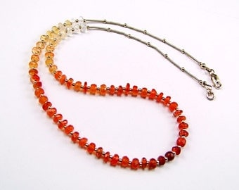 Stunning Ombre Mexican Fire Opal Necklace - N57P