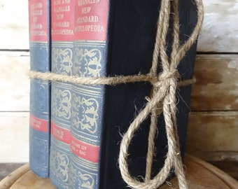 Vintage Blue an Red Book Set of 3