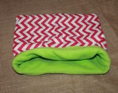LARGE Pink Chevron pouch for small pets About 15x15 Inches.