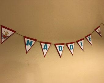 Llama Llama Red Pajama Birthday Party PERSONALIZED Banner Bunting Garland