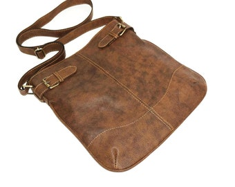 Leather Messenger, Leather Bag, Leather Crossbody Bag, Leather Messenger Bag, Leather ipad bag, Leather Handbag Purse, Vidal - Antic Brown!