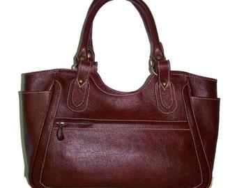 Leather Bag, Leather Handbag, Leather Tote,  Leather Purse, Leather Tote Bag, Julia L - Dark Brown