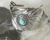 Turquoise Feather Bracelet, southwestern jewelry southwest jewelry turquoise jewelry native american jewelry style country western cowgirl