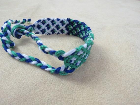 Knotted Embroidery Floss Bracelet Friendship Bracelet
