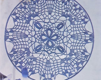 Spiderweb snowflake Crochet Pattern for a window Decoration 266 PDF from WonkyZebra