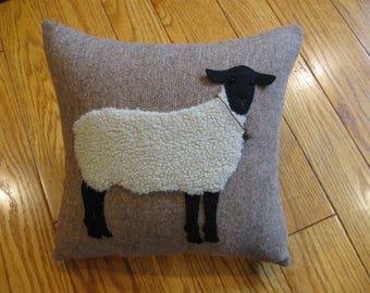 Woolly Sheep Pillow Hand Made Primitive