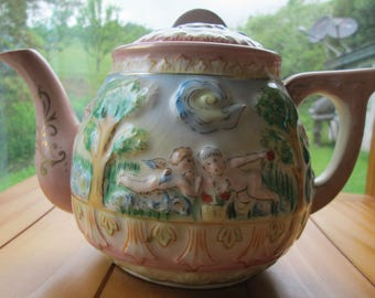 Free Shipping 1949 - 1953 Occupird Japan Capodemonte Whimsical Teapot
