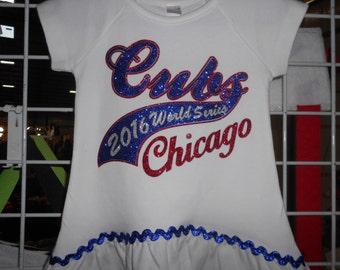 Glitter  Chicago Cubs t Shirt