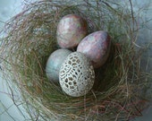 Reserved  for Kathy: Marbled and Carved Quail Eggs