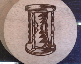 Wood Coaster - Vintage Hourglass - old fashion furniture - Vintage furniture - Plywood best quality - SOU005