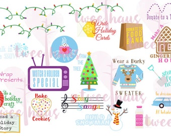 PRINTABLE Christmas Bucket List Stickers for Planners
