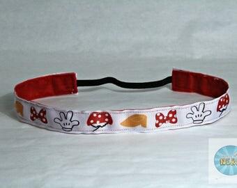 No Slip Minnie Mouse Symbols Inspired Headband - Disney Inspired