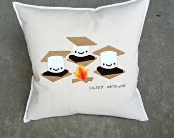 S'Mores Happy Campers Pillow